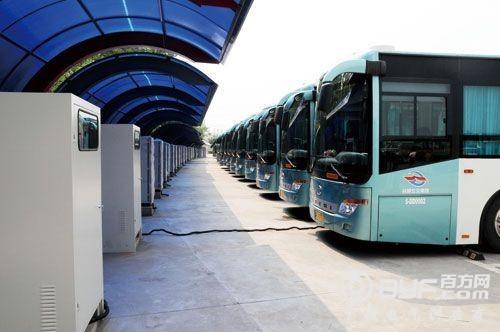 淮北 首座高速公路电动汽车充电站建成高清图片