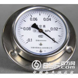 轴向带边不锈钢压力表型号规格