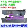 视频分配器 8进32出机架式1分4