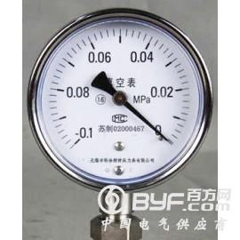 真空压力表,不锈钢真空压力表,不锈钢负压压力表