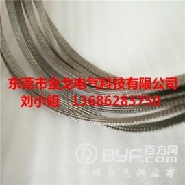 不锈钢电缆编织线,线束屏蔽网,不锈钢纤维编织带