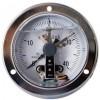 轴向带边耐震电接点压力表,盘装耐震电接点压力表