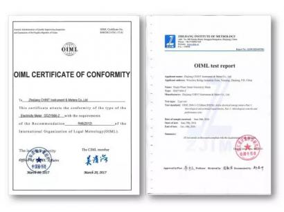 正泰仪表获得全球第二张、中国首张R46证书!