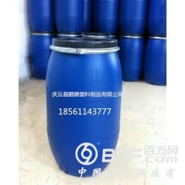 125升大开盖塑料桶125公斤铁箍包装桶