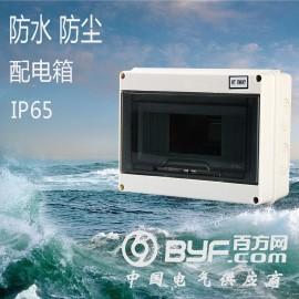 HT-8回路防水配电箱室外空开户外防雨小型断路器盒IP65
