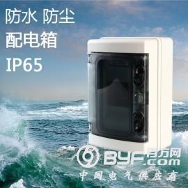 塑料配电箱HA-4回路防水防尘布线箱户外空气开关盒IP65