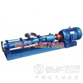 沧州G型单螺杆泵厂家推荐,广东G系列单螺杆泵