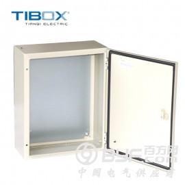 TIBOX防水防尘防腐蚀配电挂墙式冷轧钢板基业箱IP65