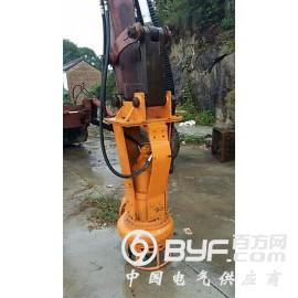 挖机安装抽浆泵,灰浆泵,矿浆泵