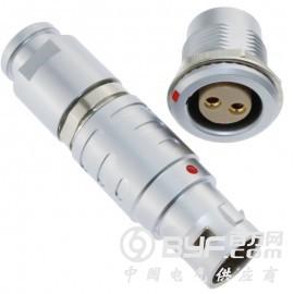 长方捷连接器 2芯塑料金属推拉自锁插头插座测试线束电源信号线
