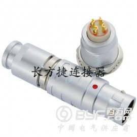 长方捷连接器 4芯塑料金属推拉自锁插头插座测试线束电源信号线