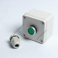 按钮开关控制盒塑料手持启动自复钮防水盒工业急停开关一位按钮盒