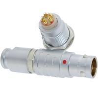 长方捷连接器 5芯塑料金属圆型推拉自锁插头插座