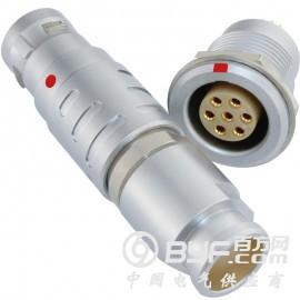 长方捷连接器 7芯圆型推拉自锁插头插座 电子仪器仪表测试线束