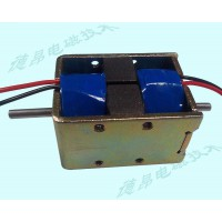 双边磁保持电磁铁DKD1240/双线圈推拉式电磁铁