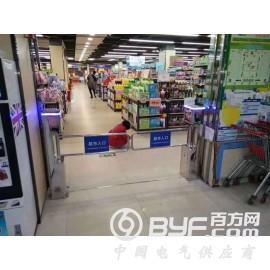 超市单向摆闸感应门红外雷达单向出口语音播报智能设备