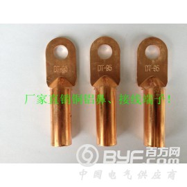 闭口电缆铜鼻子紫铜接头DT-50电缆紫铜线鼻子线耳铜接线端子