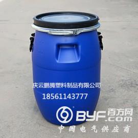 全新料50L塑料桶50公斤铁箍塑料桶