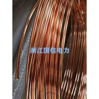 优质供应铜覆钢圆线。镀铜钢圆线,铜包钢接地线,铜镀钢圆线