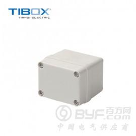 TIBOX浙江塑料防水ABS接線盒小型金屬接線盒 可絲印定制