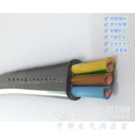 电动门扁电缆 龙门吊扁电缆 TVVB3*0.75mm2扁电缆