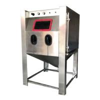 湿式手动喷砂机五金表面处理喷砂机 箱式无尘环保喷砂机