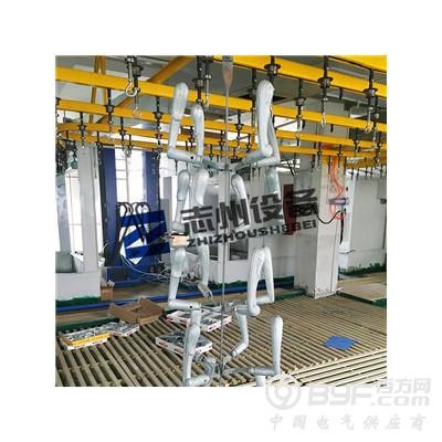 門鎖自動靜電噴塑生產線 懸掛式噴塑烘道流水線