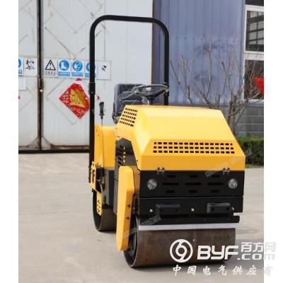 1吨压路机 小型座驾式双钢轮双驱动汽油柴油发动机
