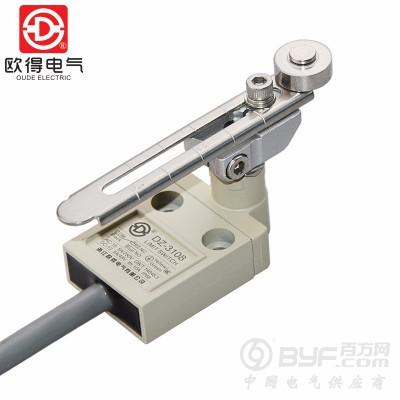 DZ-3108防水行程开关3米线可调滚轮摆杆IP68密封限位