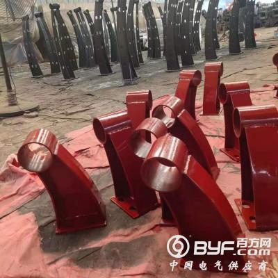 沧州 景观河道护栏支架供应 桥梁铸铁牛角支架厂家